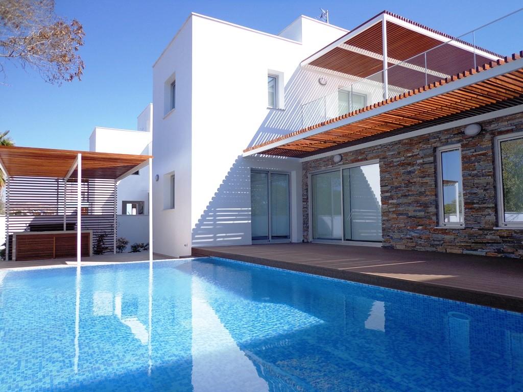 Plage Residence Villa Kyma Pool Area and Pergola